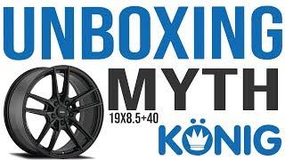 Konig Myth 19x8.5 +40 Wheel Rim Unboxing