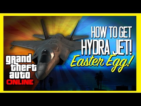 GTA V: HOW TO GET THE HYDRA JET EASTER EGG! NEW VTOL JET FIGHTER GAMEPLAY FLIGHT SCHOOL DLC