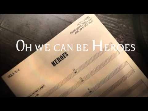 Peter Gabriel - Heroes [ Lyrics Video ]