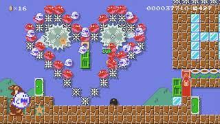 Mario's Experiment by Sam84Jesus - Super Mario Maker - No Commentary