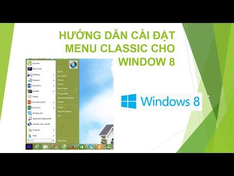 [Hướng dẫn windows 8] Cài đặt menu classic giống win 7 cho hệ điều hành windows 8 | video hướng dẫn sử dụng menu screen