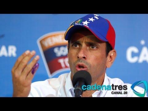 Henrique Capriles desconoce resultados electorales venezolanos; pide recuento de votos