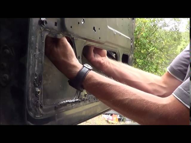 How to replace the window mechanism on a Land ... - YouTube
