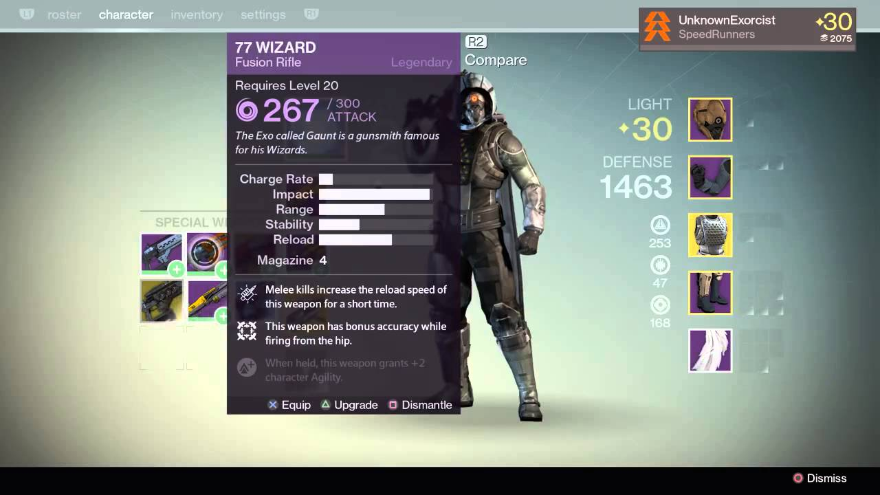 77 wizard in destiny where are the 3 gauntlets