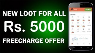 Reffer & Earn Rs.5000 from Freecharge + Rs.75 Free Recharge for All User !! Promocode (R2Y9E5E) !!