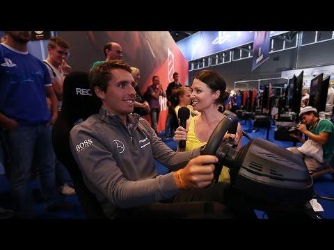 Mercedes-Benz TV: Torie catches racing game fever at Gamescom