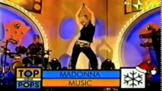 madonna : music : live at : top of the pops  : uk : 2000 :