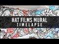 Hat Films Graffiti Mural Art Timelapse by Bill Giles -