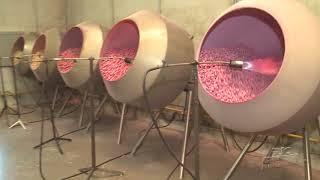 Canhões chamam a atenção em fábrica de pipoca