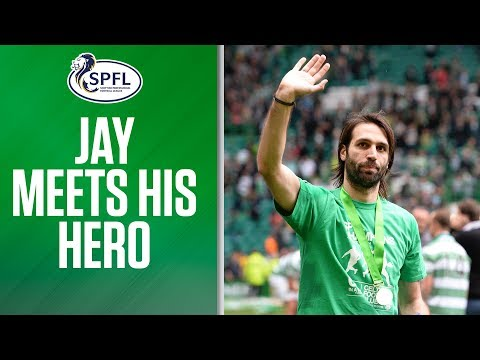 Video: Samaras and Lennon share title success with young fan
