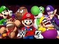 WWE 2K17 Wtf Mario vs Luigi vs Wario vs Waluigi vs Donkey Kong vs Yoshi
