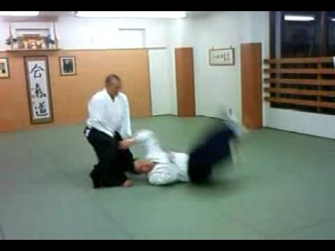 合気道 塾 逆半身 片手取り 呼吸投げ 01 aikido juku katate tori kokyu nage 01