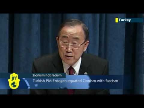 UN chief belatedly condemns Turkish PM for calling Zionism 'crime against humanity'