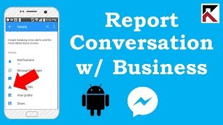 How To Report A Conversation With A Business Facebook Messenger Android