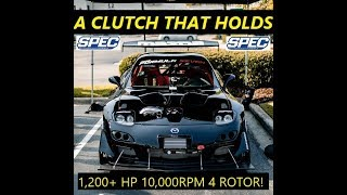 4 ROTOR RX7 WHAT CLUTCH CAN HOLD 10k RPM!!!?? 1,200+ HP? SPEC!!??