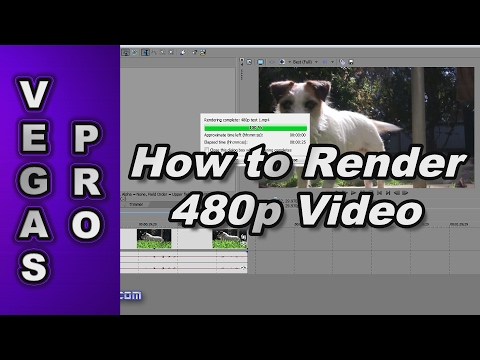 How to Render 480p Video using Sony Vegas Pro 11