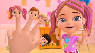Finger Family Song | Kindergarten Nursery Rhymes for Children | Cartoons