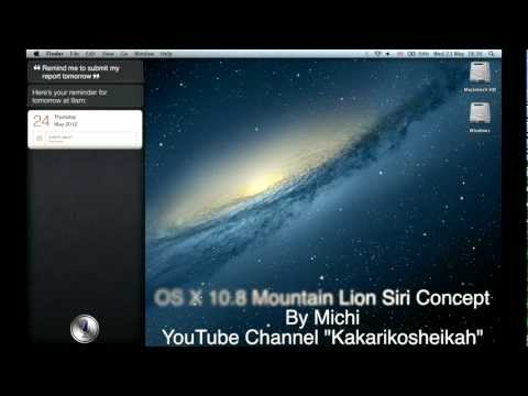 CONCEPT: Mac OS X Mountain Lion Siri Demo