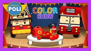 Red   Color play for Kids   Robocar Poli Game