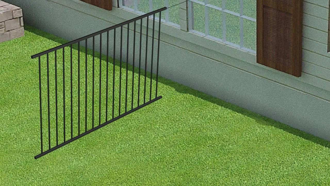Wambam Fence S No Dig Aluminum Fence Installation Youtube