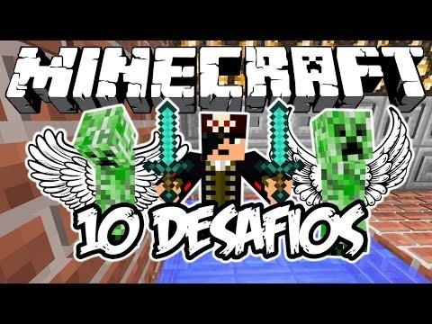 CREEPERS VOAM?! - 10 Desafios: Minecraft