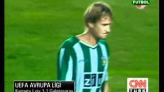 Karpaty Lviv 1 - 1 Galatasaray (UEFA Europa League Play Off 26.08.2010)
