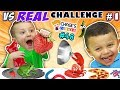 GUMMY vs. REAL FOOD CHALLENGE! LIVE Animals FUN (Chase's Corner #48 DOH MUCH FUN)