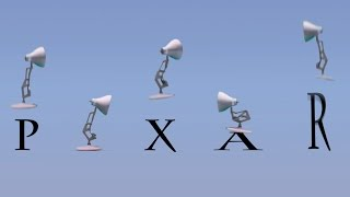 73-Five Pixar Lamps Luxo Jr Attack PIXAR Luxo Jr Logo