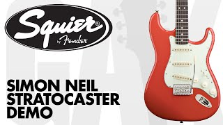 Squier - Simon Neil Stratocaster Demo at GAK