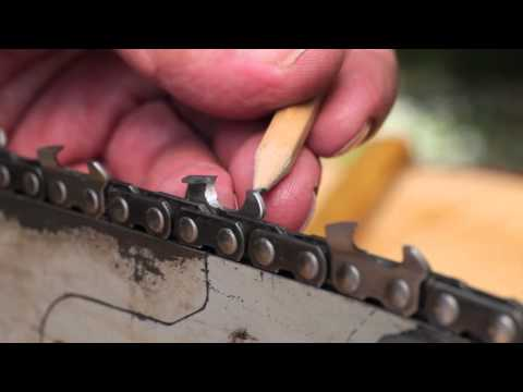 Sharpen a Chainsaw Chain - Tool Tip #10 Making Sawdust? How to hand sharpen a chainsaw chain