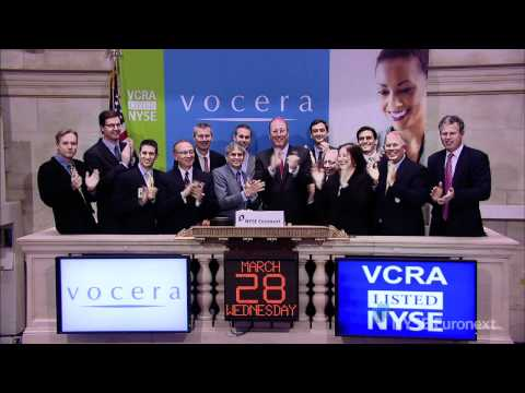 Vocera Communications Lists IPO on the NYSE rings the NYSE Opening Bell