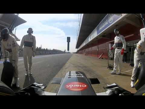 F1 2012 - Sauber Ferrari - Onboard cameras with Sergio Perez (Catalunya)