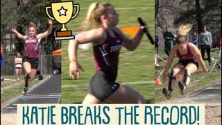 It's Breaking the Record at Her High School Track Meet!