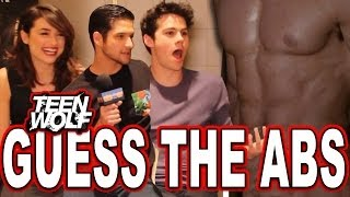 """Teen Wolf"" Guess the Wolf Abs Quiz with Tyler Posey, Dylan O'Brien & Crystal Reed"