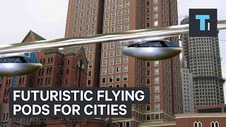 Futuristic flying pods for cities