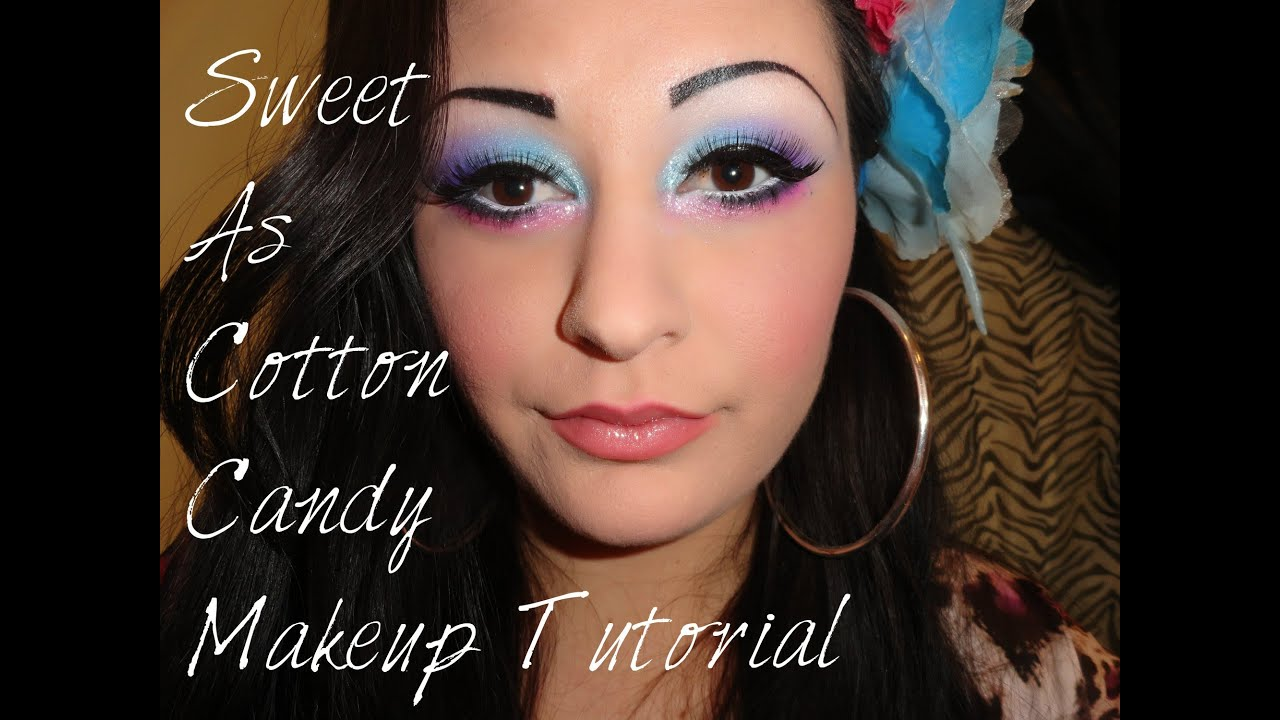 Sweet As Cotton Candy Makeup Tutorial - YouTube