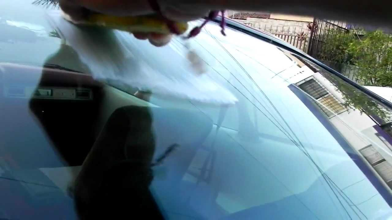 como pulir un cristal how to polish a car glass youtube