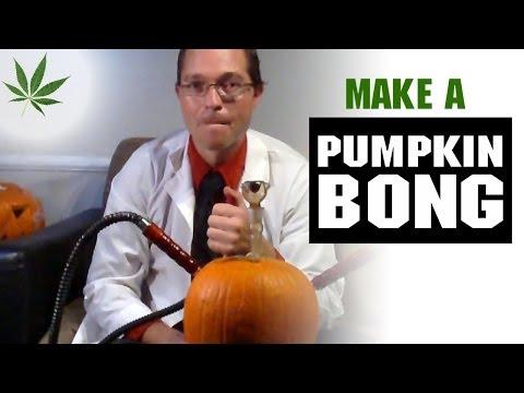 How to Make a Pumpkin Bong Hookah Marijuana Tricks & Tips w/ Bogart #14