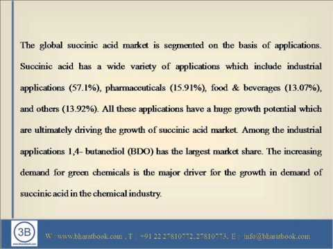 global bio succinic acid market published Transparency market research (tmr) has recently published a comprehensive report, which delivers precision analysis and insightful forecasts on the global bio-based succinic acid market.