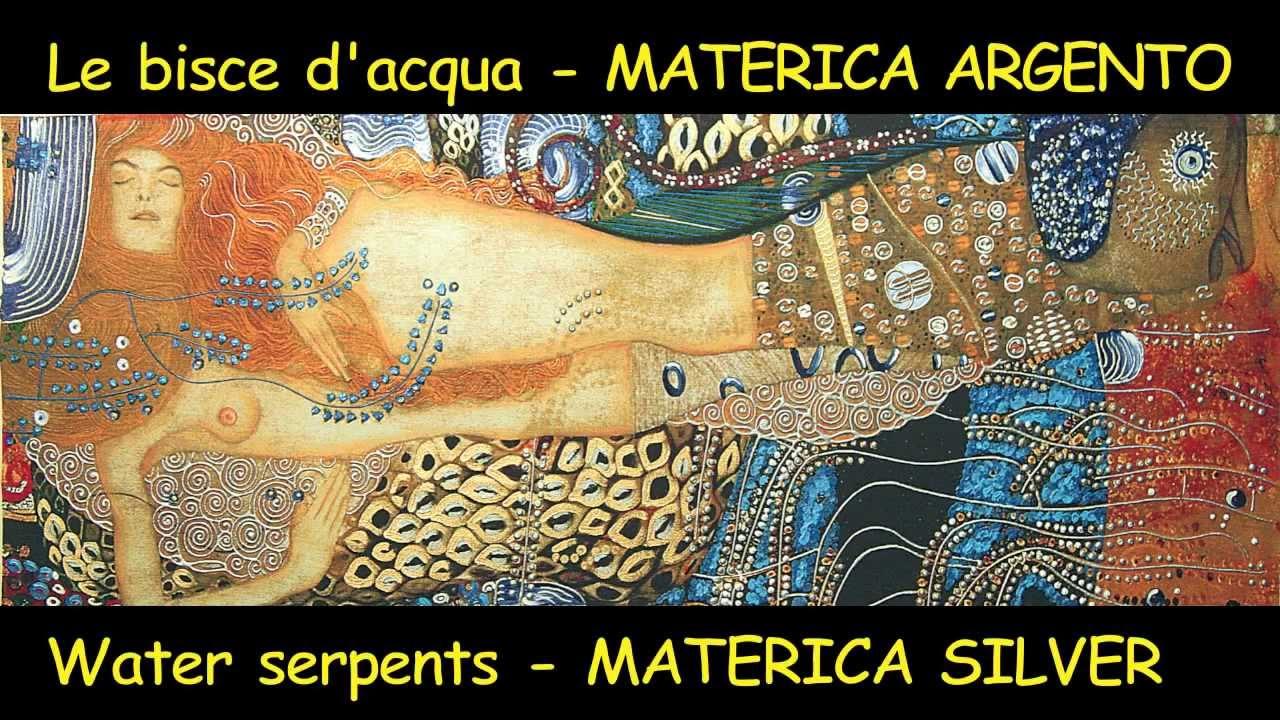 Klimt - Bisce d'acqua - MATERICA - Argento  Stampe di arte, stampe su tela - YouTube