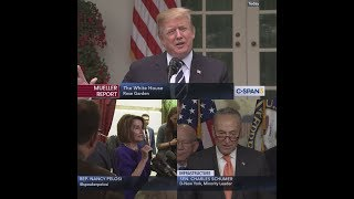 President Trump and Democratic Leaders Trade Remarks
