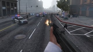 GTA 5 PC Mod Game Play - Trainer & POV (God Mode,No Reload,Infinite Bullets)