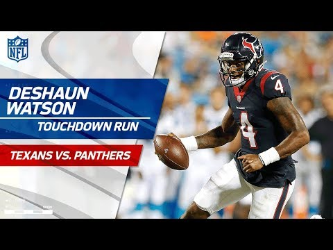 Rookie Deshaun Watson S First Nfl Touchdown Texans Vs Panthers