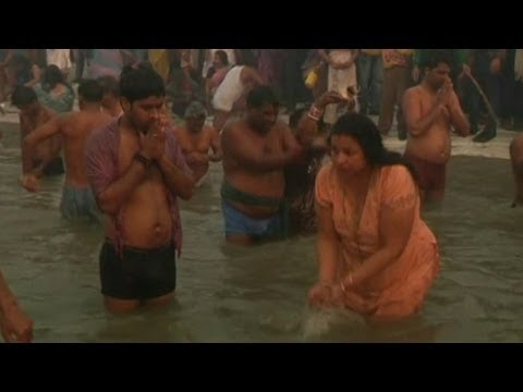 Millions Bathe In Ganges River For Maha Kumbh Mela video