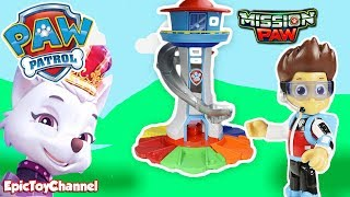 Paw Patrol Sweetie The Robber from Nickelodeon Mission Paw at My Size Look Out Tower Gets Caught