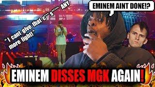 Eminem Disses MGK Again On Stage!