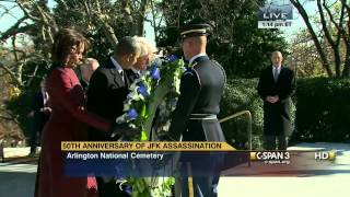 Presidential Wreath Laying at JFK Eternal Flame (C-SPAN)
