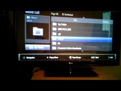 ► LG 50PK350 1080P TV  Playing MKV Files In USB ◄