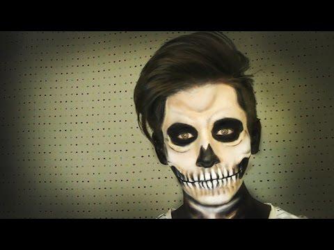Skull Makeup  Calavera Maquillaje  para HALLOWEEN