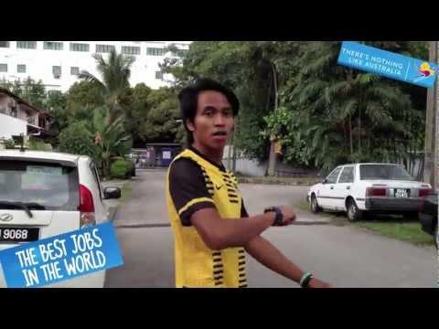 The Australia Best Job 2013 applicants video. Putra Wayan